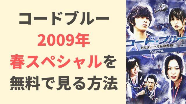 コードブルー2009年スペシャル無料動画